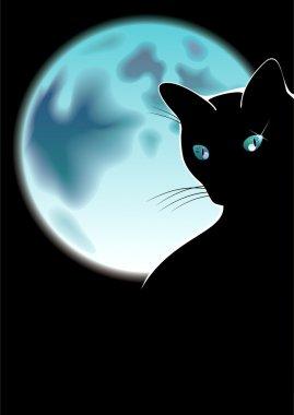 "Картина, постер, плакат, фотообои ""чёрная кошка "", артикул 59912327"