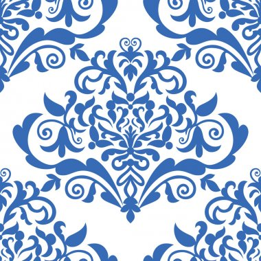 Damask beautiful background with rich, old style, luxury ornamentation, fashioned seamless pattern