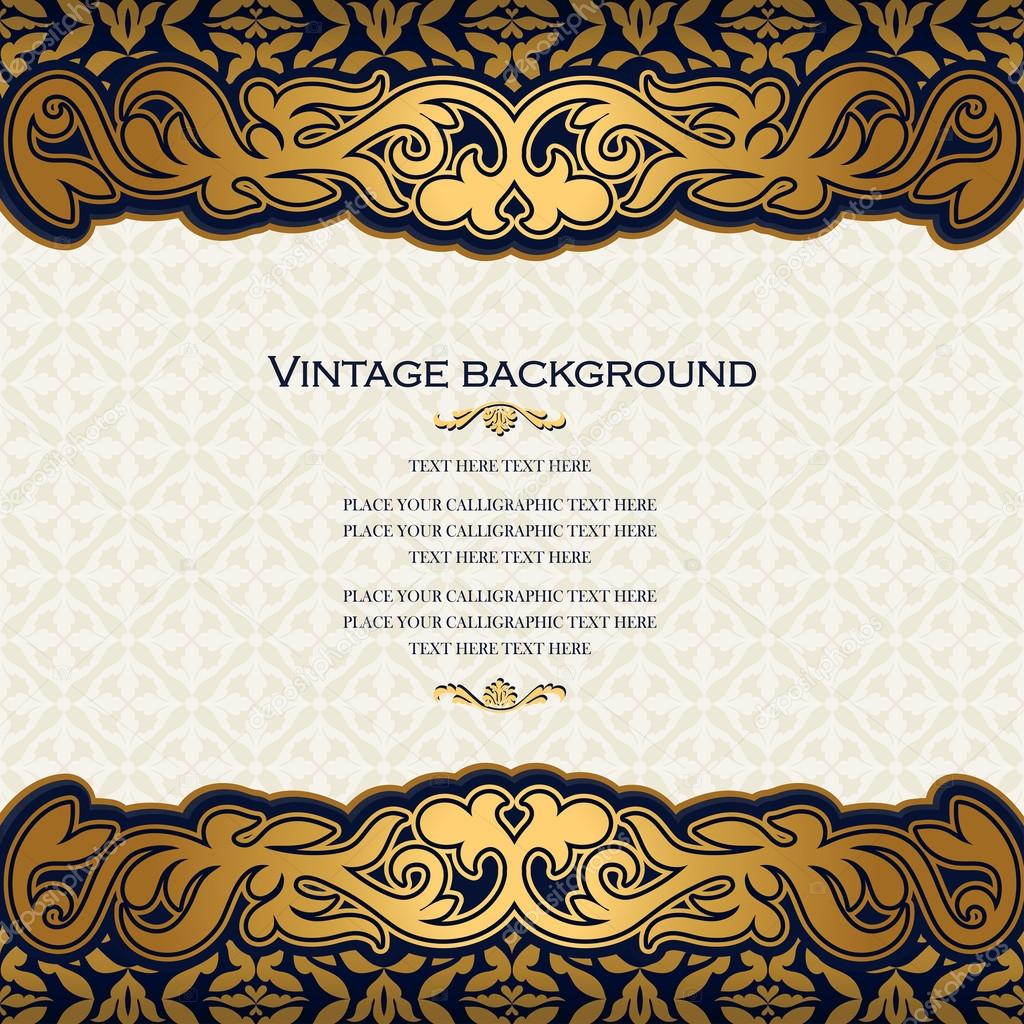 Vintage floral background antique style invitation card royal vintage floral background antique style invitation card royal greeting stock vector stopboris Image collections