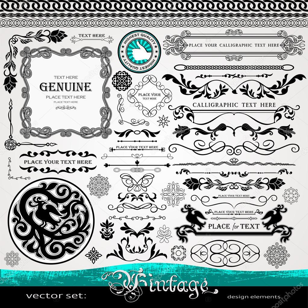 Elementi di design vintage ornamenti e divisori e for Elementi di design