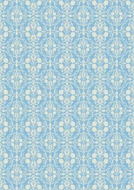 Damask beautiful background, royal, blue luxury floral ornamentation, beautiful fashioned seamless pattern
