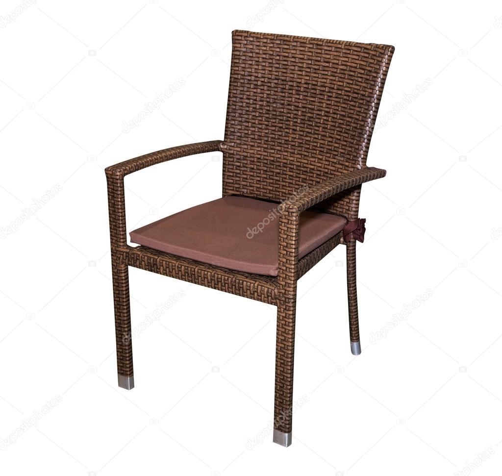 Braun Küche Hocker Stuhl isoliert — Stockfoto © prescott10 ...