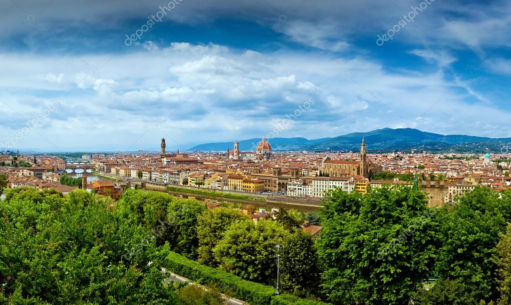 Firenze city panorama in Italy