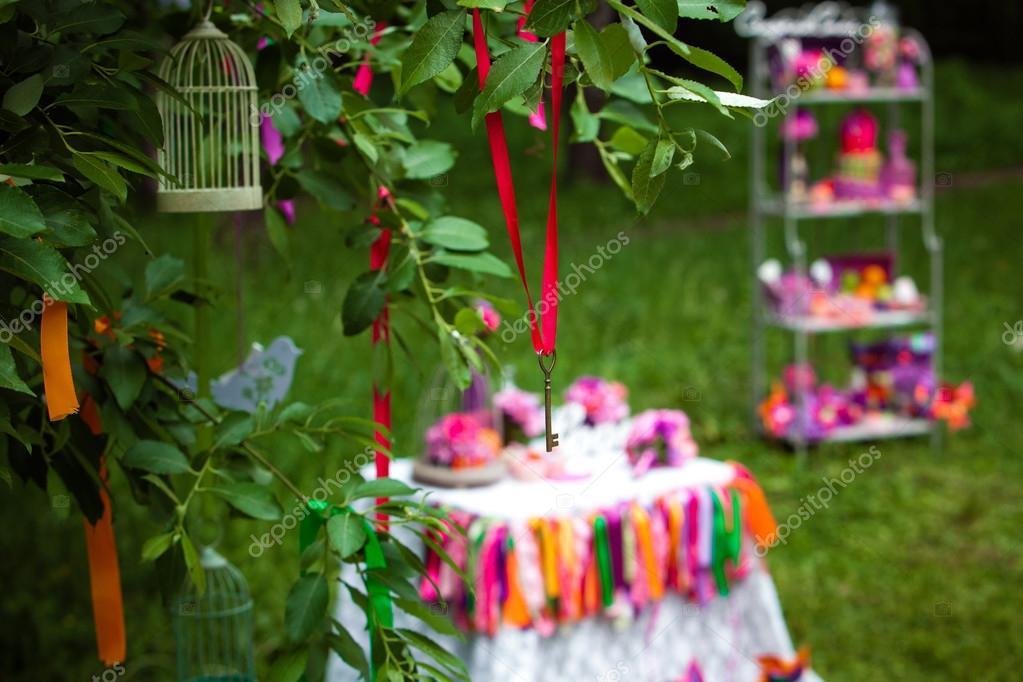 Hochzeit Dekoration Baum Stockfoto C Prescott10 124358092