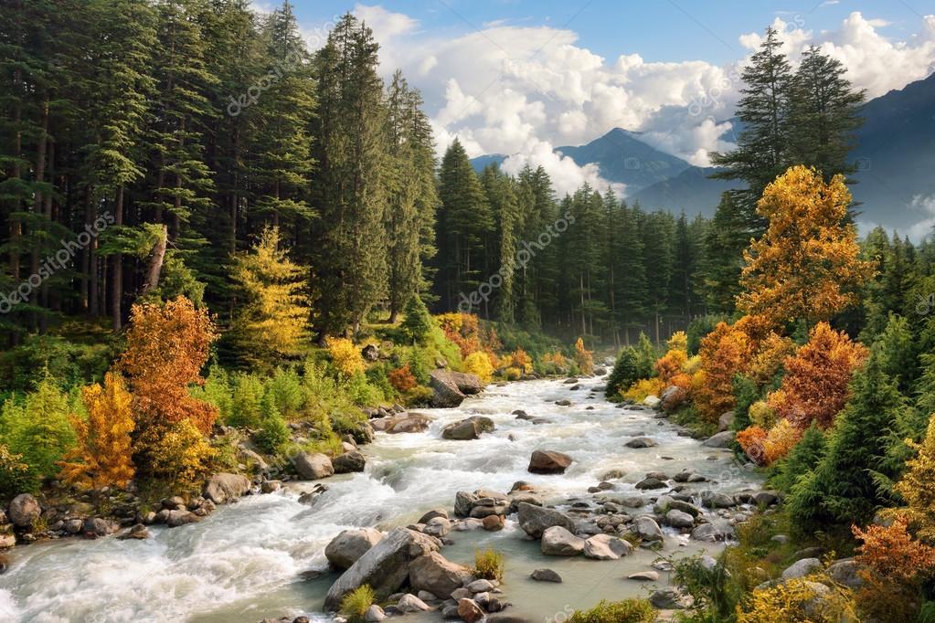 Disegni Di Paesaggi Di Montagna Colorati Paesaggio Di