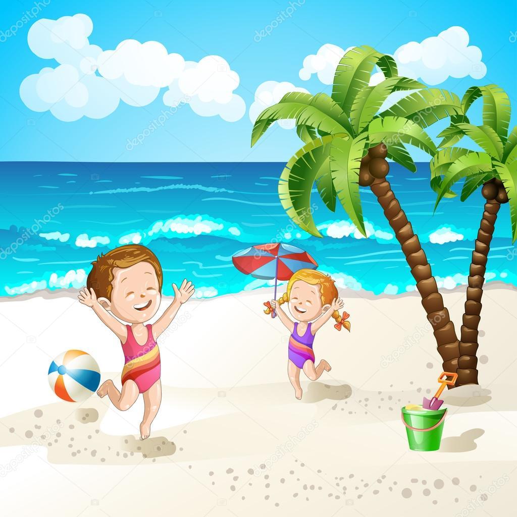 d u0027été avec l u0027étoile de mer de dessin animé et un parapluie u2014 image
