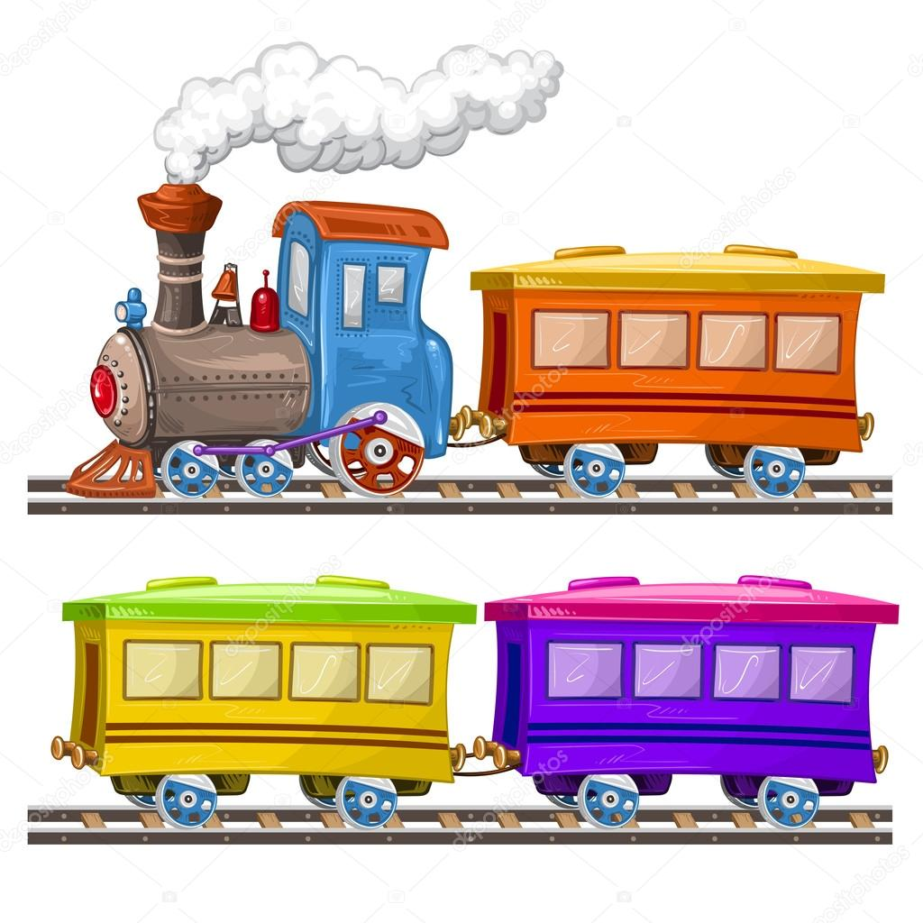 Trenes vagones y rieles de color archivo im genes - Dessin train et wagon ...