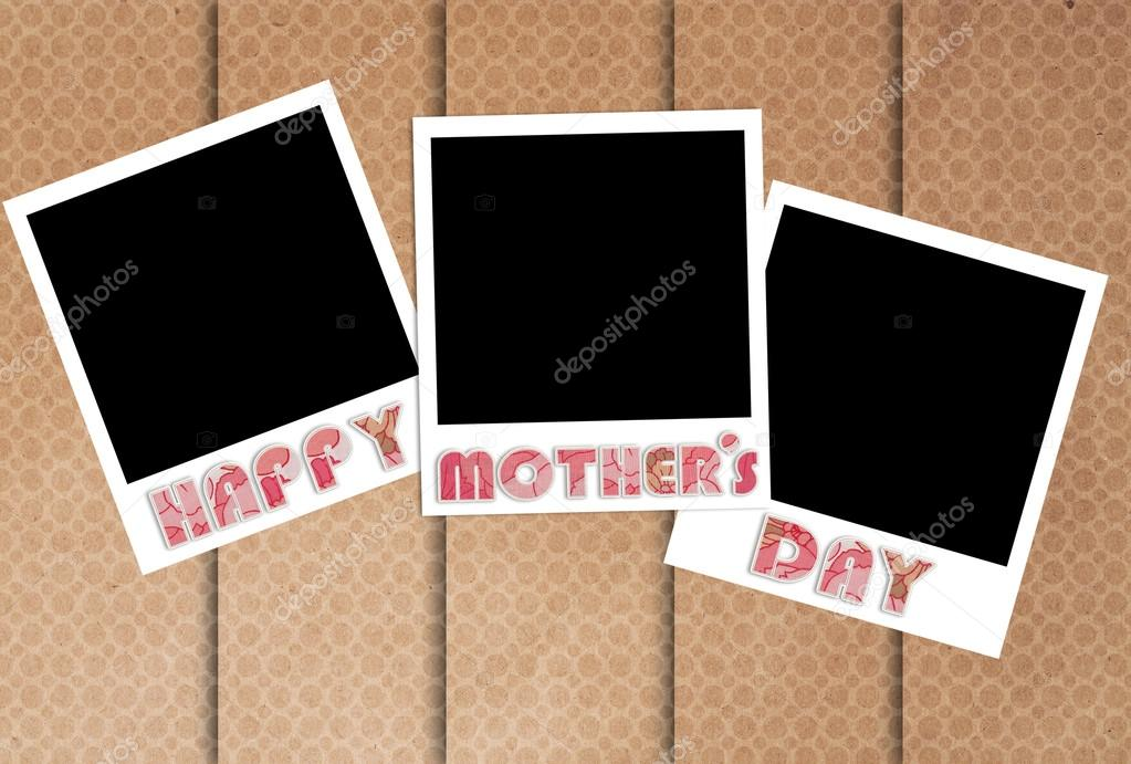 happy mothers day photo frames on designer wallpaper — Stock Photo ...