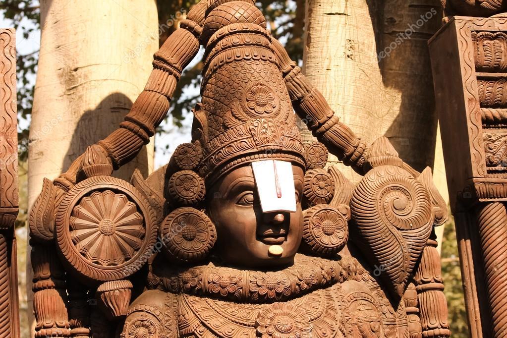 Wooden Idol Of Lord Venkateswara Tirupati Balaji Stock Photo By C Motionkarma 103160858