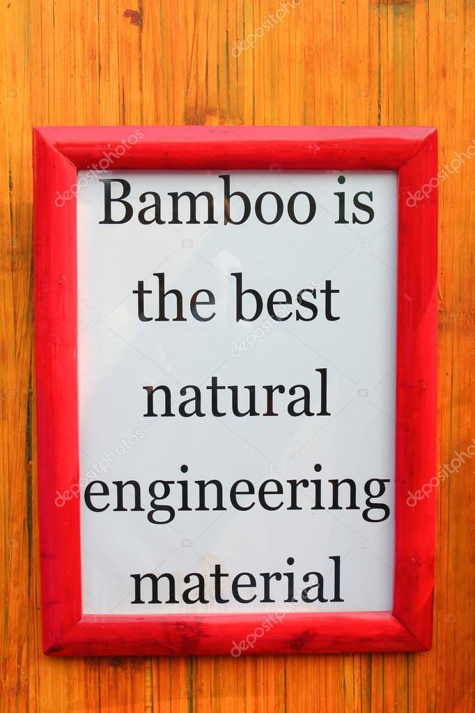 Rahmen mit Zitat auf Bambus — Stockfoto © motionkarma #103161502