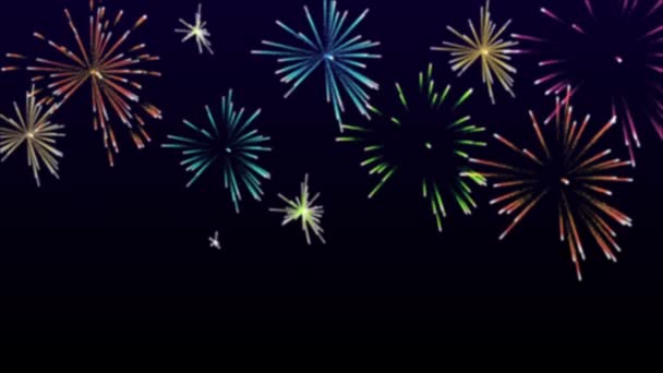 High Definition Abstract Colorful Fireworks Video Hd 1080p