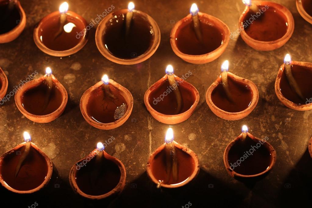 Lampes A L Huile Indienne D Argile De La Saison Des Festivals