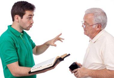 People sharing Gospel