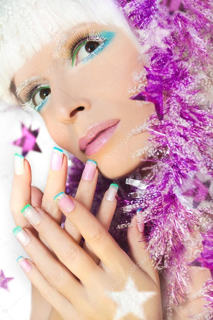 Maquillaje y manicura francesa de colores pastel navidad - Manicura francesa colores ...