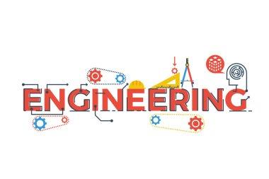 Engineering word illustration