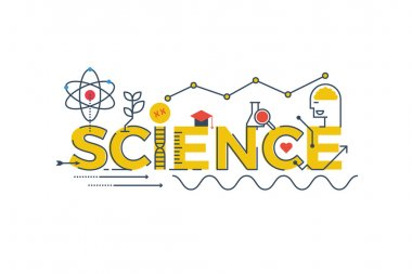 Science word illustration