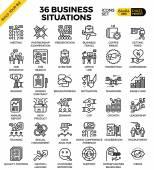 Obchodní situace ikony