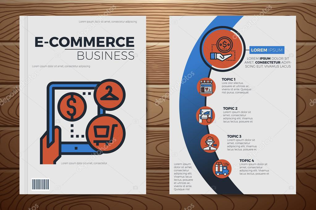 Business Deposit Book Cover ~ Charmant kostenlose e commerce vorlagen herunterladen