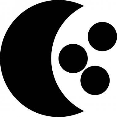 Moon  flat icon, vector illustration icon