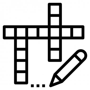 Crossword icon for web, vector illustration icon
