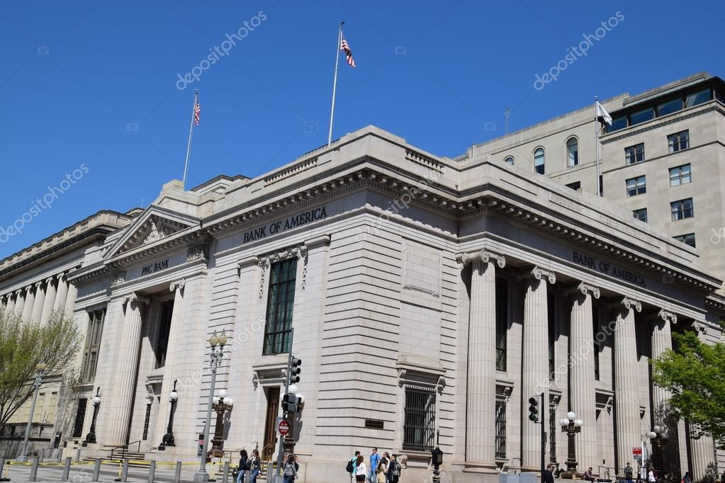 PNC Bank and Bank of America in Washington DC – Stock Editorial