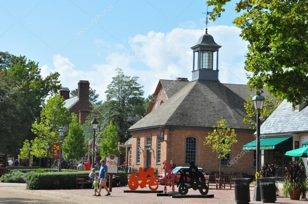 Williamsburg Va Sep 10 Merchants Square In Colonial Virginia As Seen On 2017 It Is An 18th Century Style Retail Village With