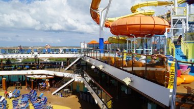 Water Slides on the Carnival Breeze