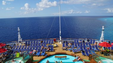 Poolside on the Carnival Breeze