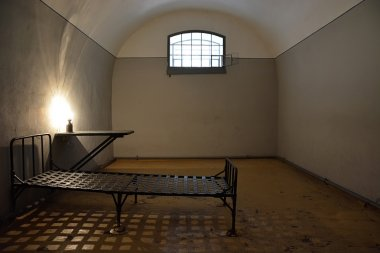 Dark prison cell in Peter and Paul fortress in Petersburg