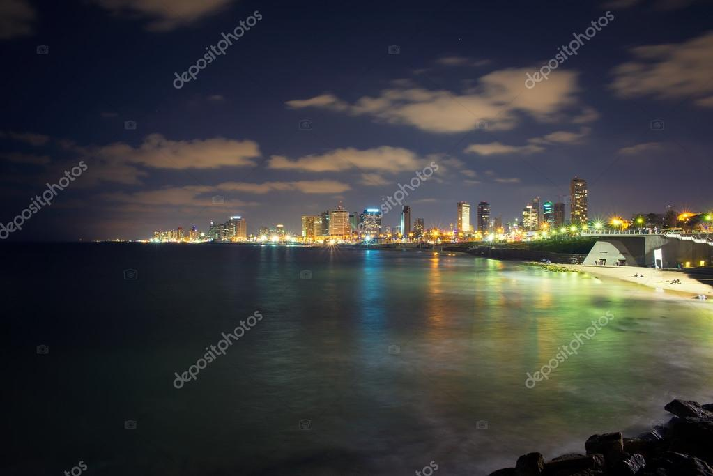 the coast of Tel Aviv