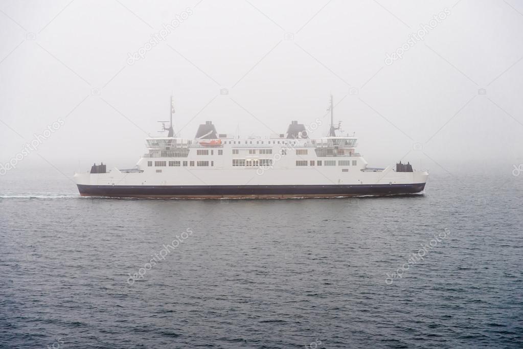 Ferry in a fog