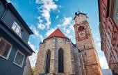 Alte und schöne St. Martin Kirche in der Altstadt. Memmingen.