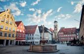 Stadtlandschaft. Marktplatz in Memmingen.