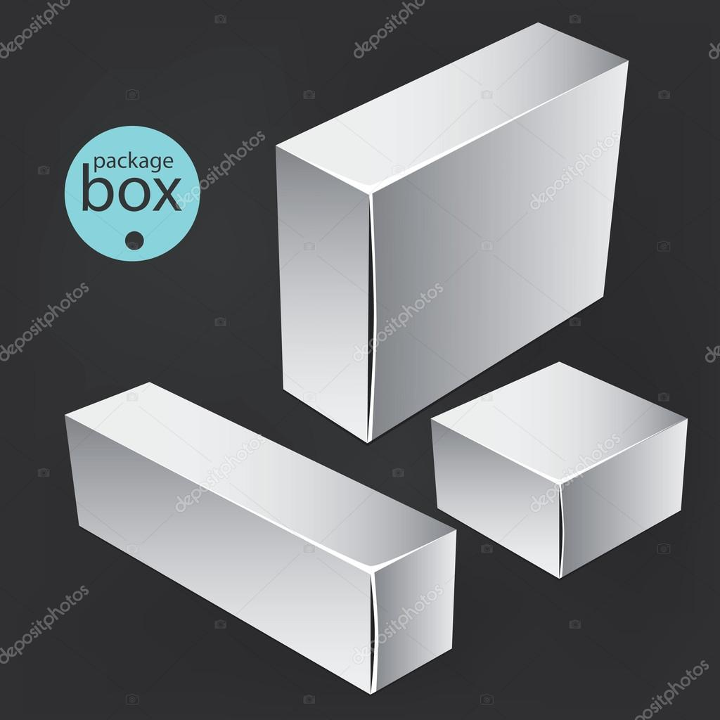 White package box  Packaging mock up template  Good for a