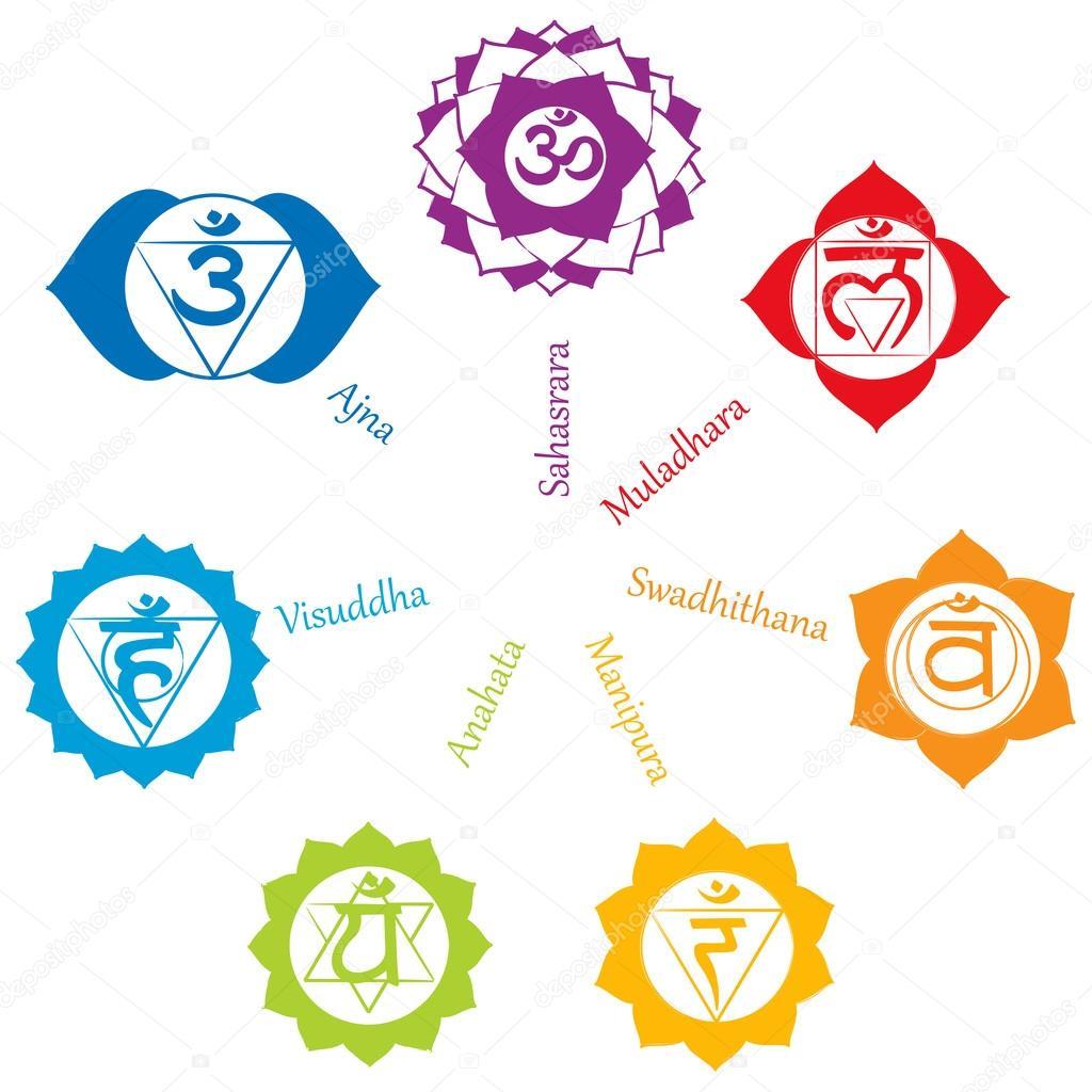 Chakra icons pictogram concept of chakras used in hinduism concept of chakras used in hinduism buddhism and ayurveda for buycottarizona Gallery