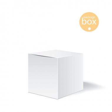 White package box. Packaging mock up template. Good for a food, electronics, software, cosmetics design and other products. Vector illustrated
