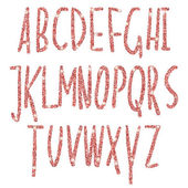 Fotografie Pink glitter sparkling alphabet. Decorative golden luxury letters . Shiny glam abstract abc.   Goden glitter text good for sale, holiday, voucher, shop, present, gift, header, wedding sparkle design
