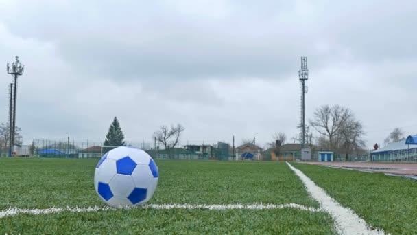 Fußball auf Fußballplatz