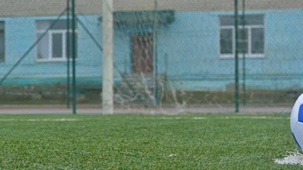 futball-labdát a focipálya