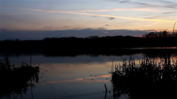 schönen Himmel Sonnenuntergang Fluss Silhouette Naturlandschaft