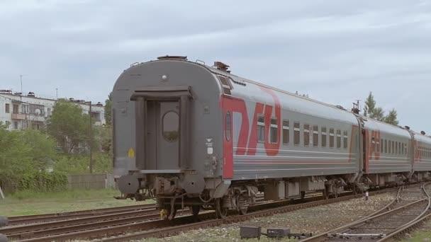 zamračený den je vlak zpomalené video