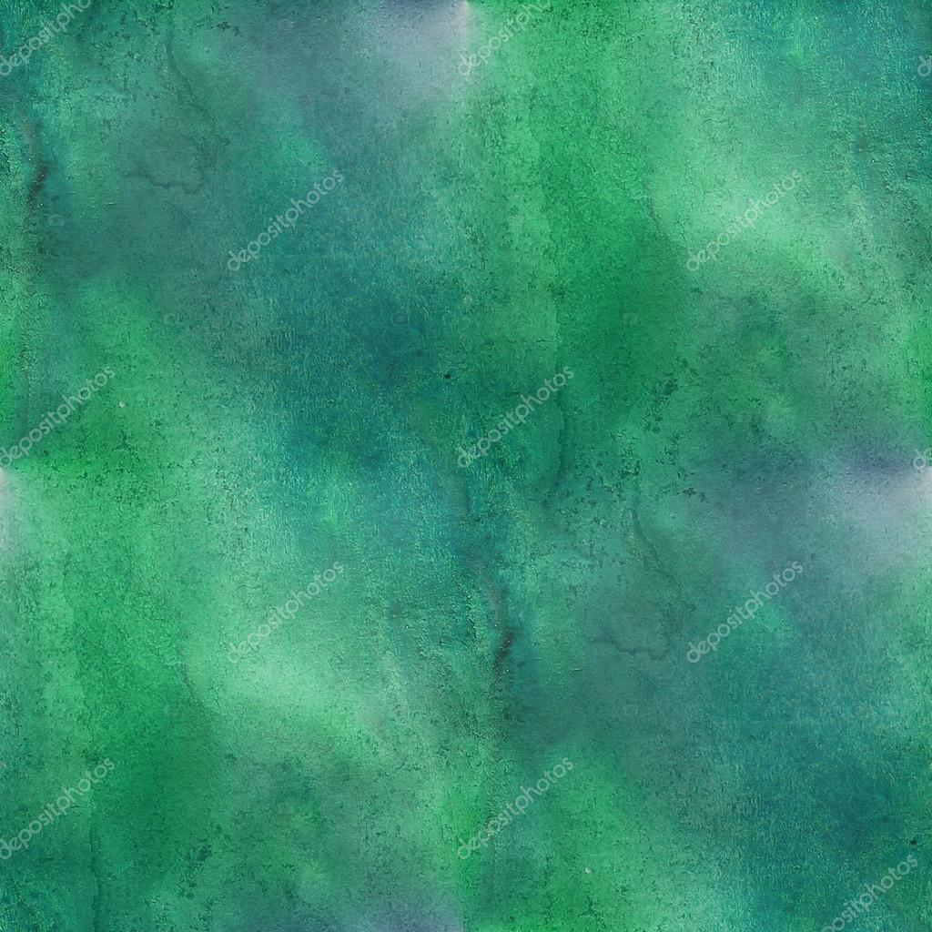 Watercolor Texture Green Dark Blue Background Wallpaper Seamless Pattern Hand Drawing Photo By Maxximmm1