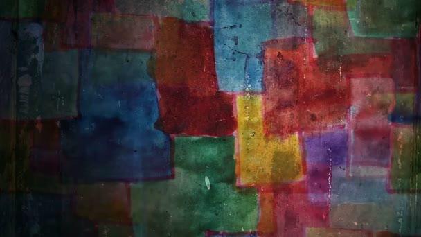 Video Motion graffiti tér foltok festék dísz éjszakai fény mozgatja a falon végig absztrakt háttér minta HD 1920x1080