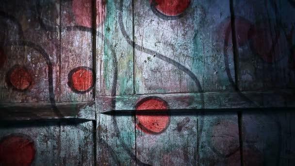 Video Motion graffiti kör Band Wave ornament éjszakai fény mozgatja a falon végig absztrakt háttér minta HD 1920x1080