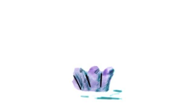 cseresznye akvarell rajzfilm illusztráció elszigetelt fehér háttér videó torta