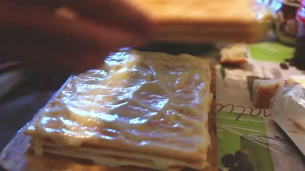 food decorated preparation chiffon sweet layer cake lifestyle