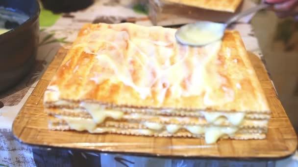 decorated preparation chiffon sweet food layer cake lifestyle