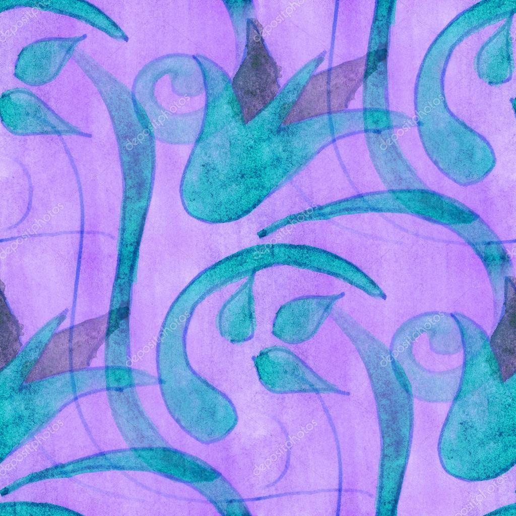 Watercolor blue violet flowers seamless handmade wallpaper watercolor blue violet flowers seamless handmade wallpaper background stock photo izmirmasajfo