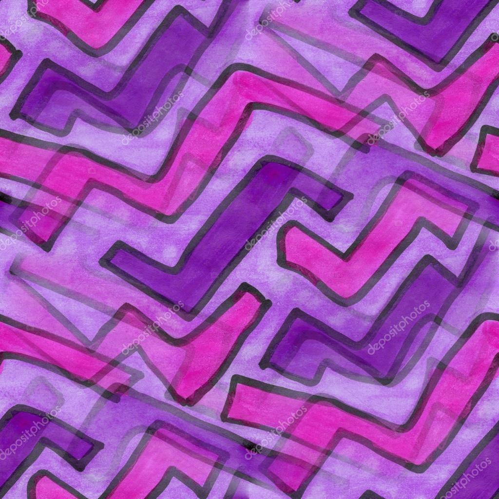Lila Streifen Abstrakte Nahtlose Kunst Streifen Tapete Aquarell
