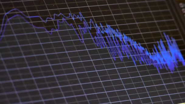 sound wave music chart on monitor